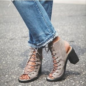JEFFREY CAMPBELL Covets Lace Up Heeled Sandal